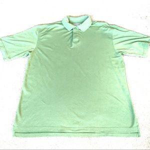 Tehama Clint Light Green Stripe Pima Cotton Polo-L